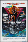 "Movie Posters:James Bond, The Spy Who Loved Me (United Artists, 1977). One Sheet (27"" X 41"").James Bond Action. Starring Roger Moore, Barbara Bach, C..."