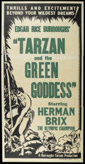 "Movie Posters:Adventure, Tarzan and the Green Goddess (Burroughs-Tarzan-Enterprise, 1938).Three Sheet (42"" X 82""). Adventure. Starring Herman Brix, ..."