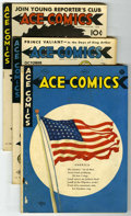 Golden Age (1938-1955):Miscellaneous, Ace Comics Group (David McKay Publications, 1939-44). Includes #22, 51, 70 (Average FR/GD) and #58, 64, #65 (flag cover) 67,... (Total: 13 Comic Books)
