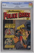 Authentic Police Cases #1 (St. John, 1948) CGC VF 8.0 White pages. Hale the Magician by George Tuska begins. Paul Parker...