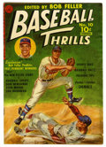 "Golden Age (1938-1955):Non-Fiction, Baseball Thrills 10 (#1) Davis Crippen (""D"" Copy) pedigree(Ziff-Davis, 1951) Condition: VG+. Bob Feller painted cover.Fell..."