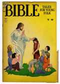 "Golden Age (1938-1955):Religious, Bible Tales for Young Folk #2 Davis Crippen (""D"" Copy) pedigree(Atlas, 1953) Condition: VF-. Two siamese/mis-cut pages. Bil..."