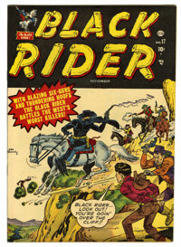 "Black Rider #17 Davis Crippen (""D"" Copy) pedigree (Atlas, 1951) Condition: VF. Overstreet 2006 VF 8.0 value =..."