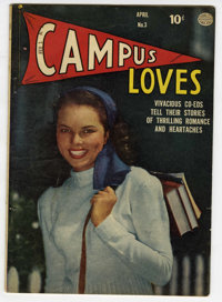 Campus Loves #3 (Quality, 1950) Condition: VG+. Overstreet 2006 VG 4.0 value = $18