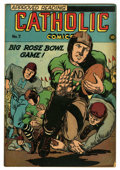 "Golden Age (1938-1955):Religious, Catholic Comics #7 Davis Crippen (""D"" Copy) pedigree (CatholicPublications, 1946) Condition: FN. Notre Dame football cover...."