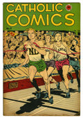 "Golden Age (1938-1955):Religious, Catholic Comics #9 Davis Crippen (""D"" Copy) pedigree (CatholicPublications, 1947) Condition: VF. Track and field cover. Ove..."