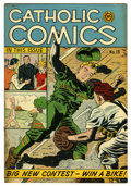 "Golden Age (1938-1955):Religious, Catholic Comics #13 Davis Crippen (""D"" Copy) pedigree (CatholicPublications, 1947) Condition: VF. Baseball cover. Overstree..."