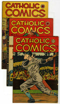 "Golden Age (1938-1955):Religious, Catholic Comics Davis Crippen (""D"" Copy) pedigree Group (CatholicPublications, 1947-48). Issues include V1#11 (VG/FN), V2#1...(Total: 7)"