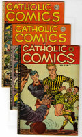 "Golden Age (1938-1955):Religious, Catholic Comics Davis Crippen (""D"" Copy) pedigree Group (CatholicPublications, 1948-49). Issues include V2#7 (FN/VF), V2#9 ...(Total: 8 Comic Books)"