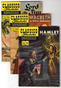 """Golden Age (1938-1955):Classics Illustrated, Classics Illustrated First Editions Group (Gilberton, 1952-59)Condition: Average VG. Includes #99 (""""Hamlet,"""" Alex Blum art)...(Total: 5 Comic Books)"""