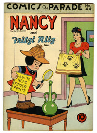 """Comics On Parade #44 Nancy and Fritzi Ritz - Davis Crippen (""""D"""" Copy) pedigree (United Features Syndicate, 194..."""
