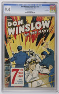 Golden Age (1938-1955):War, Don Winslow of the Navy #27 Crowley Copy pedigree (Fawcett, 1945)CGC NM 9.4 Cream to off-white pages. Overstreet 2006 NM- 9...