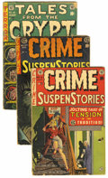 Golden Age (1938-1955):Horror, EC Comics Group (EC, 1953-54) Condition: Average GD. Includes TalesFrom the Crypt #40 (used in Senate hearings and in H... (Total: 5Comic Books)