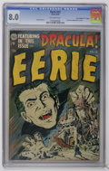 "Golden Age (1938-1955):Horror, Eerie #12 Davis Crippen (""D"" Copy) (Avon, 1953) CGC VF 8.0Off-white pages. First Dracula adaptation (from the novel) incom..."