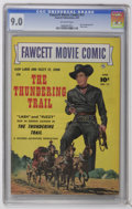 Golden Age (1938-1955):Western, Fawcett Movie Comic #11 The Thundering Trail (Fawcett, 1951) CGC VF/NM 9.0 Off-white pages. ...