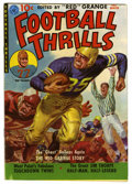 """Golden Age (1938-1955):Miscellaneous, Football Thrills #1 Davis Crippen (""""D"""" Copy) pedigree (Ziff-Davis, 1951) Condition: VF. Red Grange painted cover by Norman S..."""