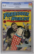 Golden Age (1938-1955):Horror, Forbidden Worlds #6 (ACG, 1952) CGC VF 8.0 Off-white to whitepages. Sam Cooper and Roy Williams art. King Kong-esque gorill...
