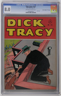 """Four Color #163 Dick Tracy - Davis Crippen (""""D"""" Copy) (Dell, 1947) CGC VF 8.0 Off-white to white pages. Dick T..."""