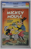 "Golden Age (1938-1955):Funny Animal, Four Color #181 Mickey Mouse - Davis Crippen (""D"" Copy) (Dell,1948) CGC VF/NM 9.0 Cream to off-white pages. Mickey Mouse in..."