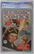 Golden Age (1938-1955):War, Heroic Comics #17 File Copy (Eastern Color, 1943) CGC VF+ 8.5Off-white to white pages. Painted cover. H. G. Peter and Ben T...