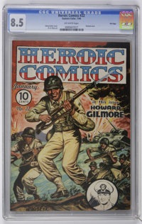 Heroic Comics #22 File Copy (Eastern Color, 1944) CGC VF+ 8.5 Off-white pages