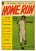 "Golden Age (1938-1955):Non-Fiction, Home Run #3 Davis Crippen (""D"" Copy) pedigree (MagazineEnterprises, 1953) Condition: VF. Also known as A-1 #89. Feature..."