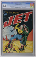 "Golden Age (1938-1955):Science Fiction, Jet Powers #3 Davis Crippen (""D"" Copy) (Magazine Enterprises, 1951)CGC VF+ 8.5 Off-white pages. The highest-graded of just ..."