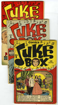 Golden Age (1938-1955):Non-Fiction, Juke Box Comics #1, 3, and 4 Group (Famous Funnies, 1948). Includes#1 (GD, Alex Toth cover, Toth and A.C. Hollingsworth art... (Total:3 Comic Books)