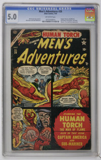 Men's Adventures #28 (Atlas, 1954) CGC VG/FN 5.0 Off-white pages. This currently holds first place in grade among all co...