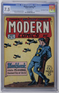 "Golden Age (1938-1955):War, Modern Comics #51 Davis Crippen (""D"" Copy) (Quality, 1946) CGC VF-7.5 Off-white pages. Al Bryant cover and Reed Crandall ar..."