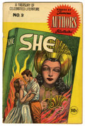 Golden Age (1938-1955):Classics Illustrated, Stories by Famous Authors Illustrated #3 She (Seaboard Pub., 1950) Condition: VG. Overstreet 2006 VG 4.0 value = $78....