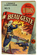 Golden Age (1938-1955):Classics Illustrated, Stories by Famous Authors Illustrated #5 Beau Geste (Seaboard Pub., 1950) Condition: VG+. Cover by Henry Kiefer. Overstreet ...