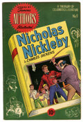 Golden Age (1938-1955):Classics Illustrated, Stories by Famous Authors Illustrated #9 Nicholas Nickleby(Seaboard Pub., 1951) Condition: FN. Gustav Schrotter art. 52pag...