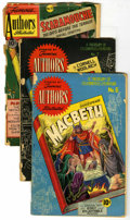 """Golden Age (1938-1955):Classics Illustrated, Stories by Famous Authors Illustrated #6, 7, and 13 Group (SeaboardPub., 1950) Condition: Average FR/GD. Includes #6 (""""Macb... (Total:3 Comic Books)"""