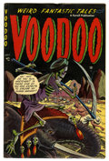 "Golden Age (1938-1955):Horror, Voodoo #11 Davis Crippen (""D"" Copy) (Farrell, 1953) Condition:FN/VF. Gruesome graphics from the Golden Age of horror. CGC c..."