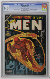 Young Men #26 (Atlas, 1954) CGC FN 6.0 Cream to off-white pages. Atlas lured Carl Burgos back to the comic book industry...