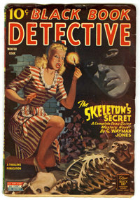 Black Book Detective Winter 1945 (Better Publications, 1945) Condition: VG/FN. Skeleton cover. Off-white pages with no t...
