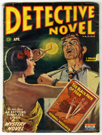 """Detective Novel V15#2 (Thrilling Publications, 1945) Condition: GD/VG. Reprints """"The Black Path of Fear"""" by Co..."""