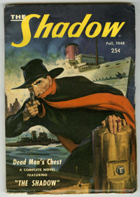 "Shadow V54#4 (Street & Smith, 1948) Condition: FN-. ""Dead Man's Chest."" Series returns to pulp format with..."