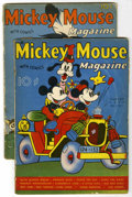 Magazines:Humor, Mickey Mouse Magazine V2 #11 and 12 Group (K. K. Publications,Inc., 1937). Includes V2#11 (PR, page cut out but still prese...(Total: 2 Comic Books)