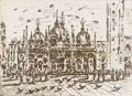 Texas:Early Texas Art - Drawings & Prints, CLINTON KING (1901-1979). San Marco, 1974. Lithograph. 16in.x 22in.. Signed and dated lower right. Titled lower center...