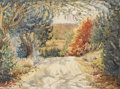 Texas:Early Texas Art - Impressionists, AGNES NELSON DAY (1885-1963). Untitled Country Road. Watercolor.11in x 14.5in.. Signed lower right. Agnes Nelson Day stud...