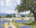 Texas:Early Texas Art - Impressionists, WILLIAM SLAUGHTER (1923-2003). Untitled Bluebonnets. Oil on canvas.14in. x 18in.. Signed lower right. ...