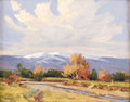 Texas:Early Texas Art - Impressionists, BILL WARDEN (1927-1991). Untitled Fall Scene. Oil on canvas. 11in.x 14in.. Signed lower left. According to the artist's d...