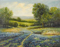 Texas:Early Texas Art - Impressionists, ROBERT PEARSON (b. 1880s). Texas Bluebonnets, 1941. Oil oncanvas. 22in. x 28in.. Signed and dated lower right. Signed, ...