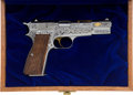 Handguns:Semiautomatic Pistol, Numbered Edition 292 of 500 Cased Gold Classic Semi-Automatic Pistol....