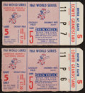 Baseball Collectibles:Tickets, 1961 World Series Game 5 Ticket Stubs Lot of 2....