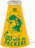 Football Collectibles:Others, 1960's Green Bay Packers Souvenir Megaphone - High Grade!...
