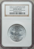 Expositions and Fairs, 1939 California Golden Gate Exposition, Union Pacific MS64 NGC. Aluminum....