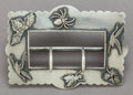 Silver Smalls:Buckles, A SHIEBLER SILVER BELT BUCKLE . George W. Shiebler & Co., NewYork, New York, circa 1890-1900. Marks: (winged S),STERLIN...